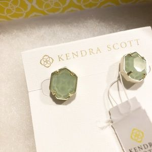 Kendra Scott Mint Green Stud Earrings